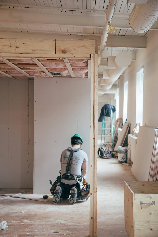Die Baustelle vor der Baureinigung